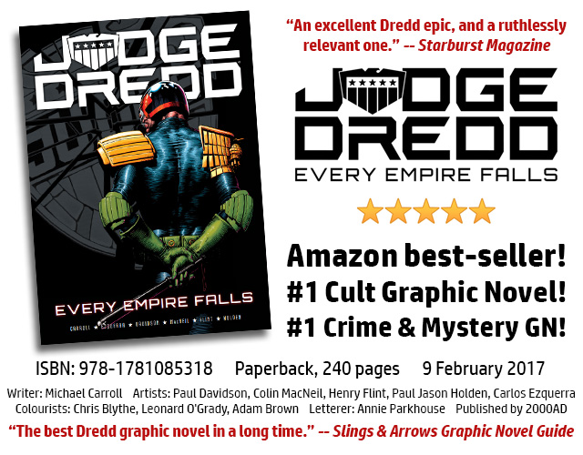 Judge Dredd: Every Empire Falls - Best-seller on Amazon!